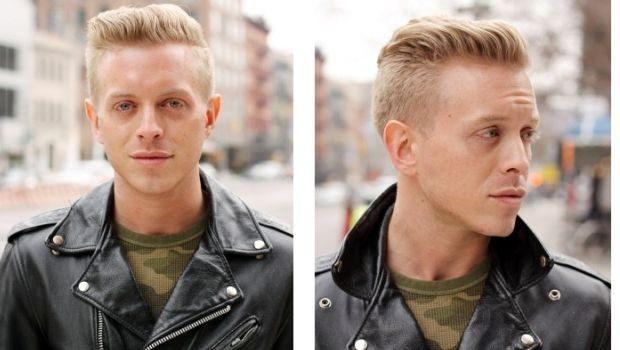 модные мужские стрижки волос тенденции: британка укладка на верх