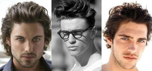 модные мужские стрижки волос: хаотичные на среднюю длину волос