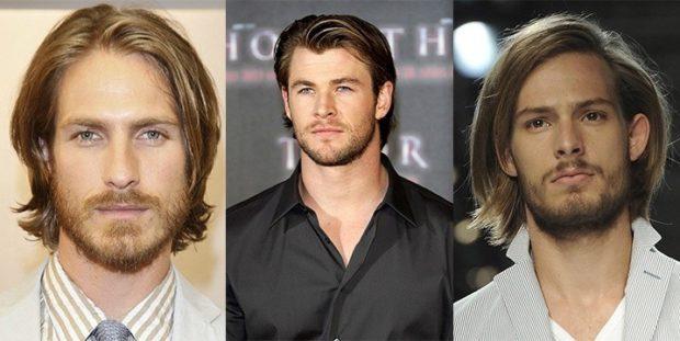 модные мужские стрижки волос: классическая длинные волосы