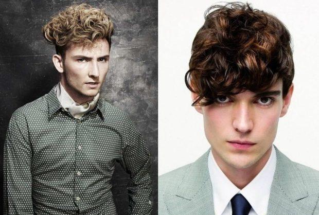модные мужские стрижки волос: модные с локонами