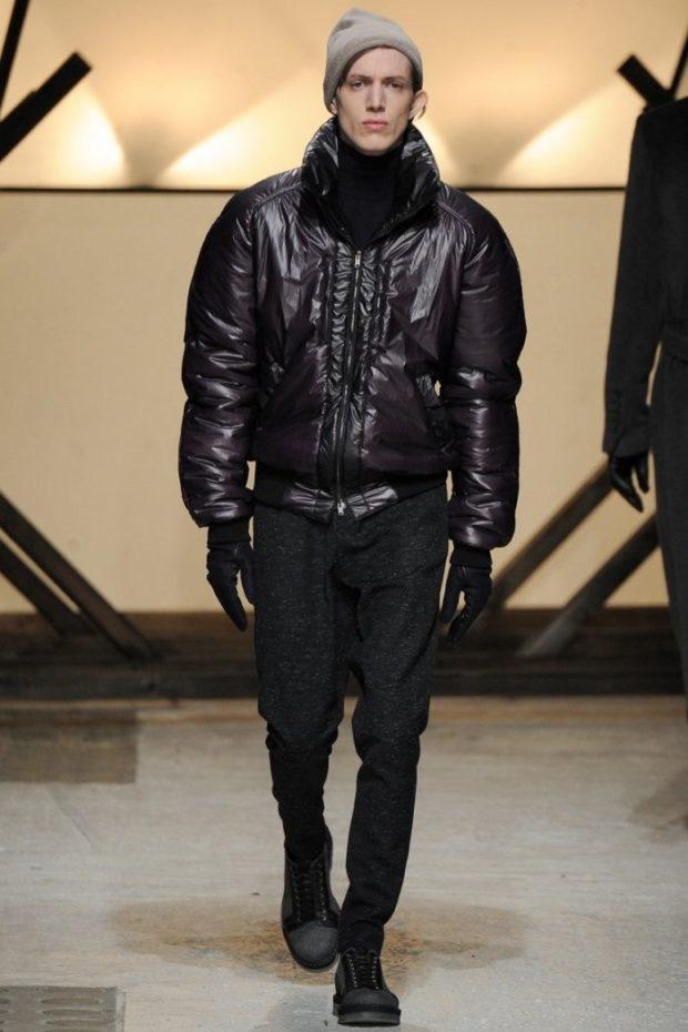 куртка дутая короткая темная