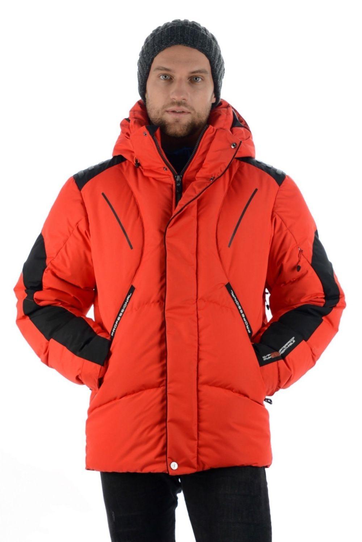 горнолыжная куртка красная с черным