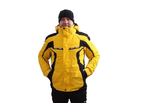 куртка горнолыжная желтая с черным