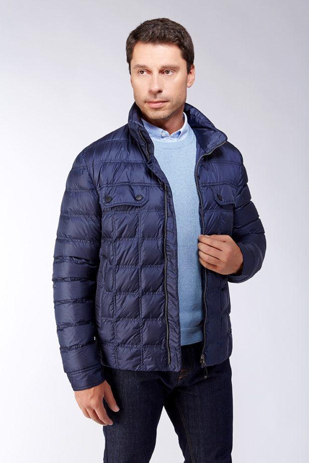 куртка демисезонная синяя