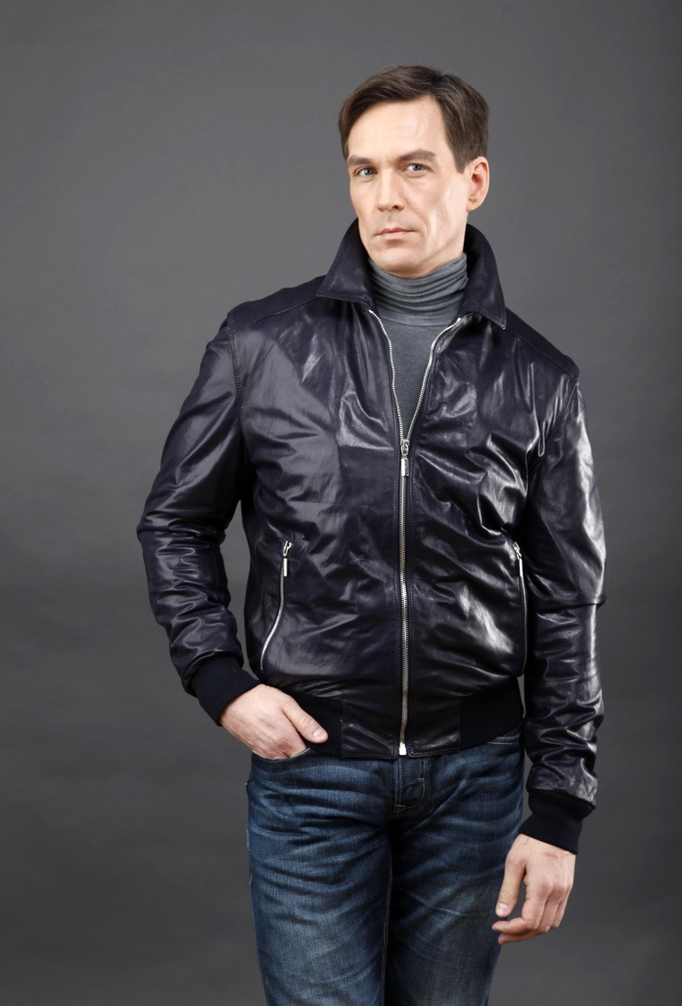 куртка демисезонная синяя короткая