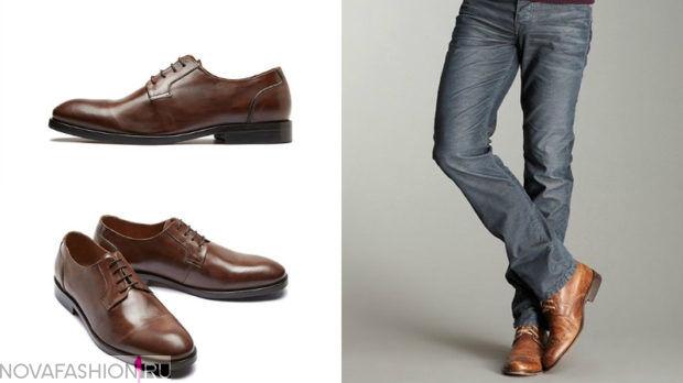 коричневые туфли классика