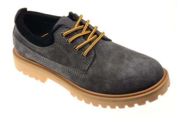 мужские туфли: спортивные серый подошва коричневая