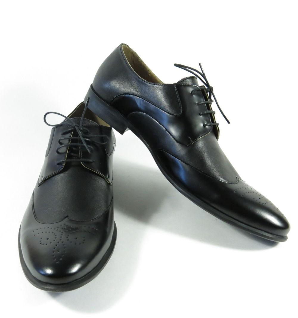 классические туфли на шнуровки носок круглый черный