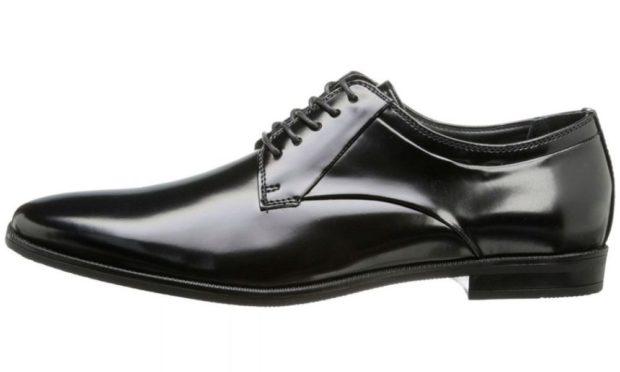 мужские туфли: классические на шнуровки лаковые черные