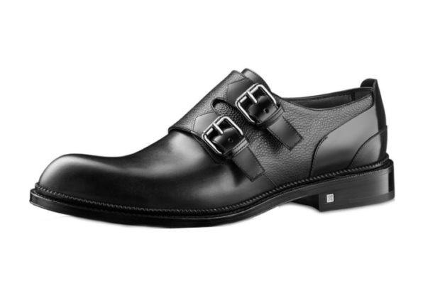 туфли черные с застежками носок круглый
