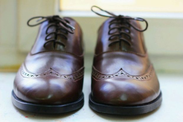 Оксфорды коричневые на шнурках