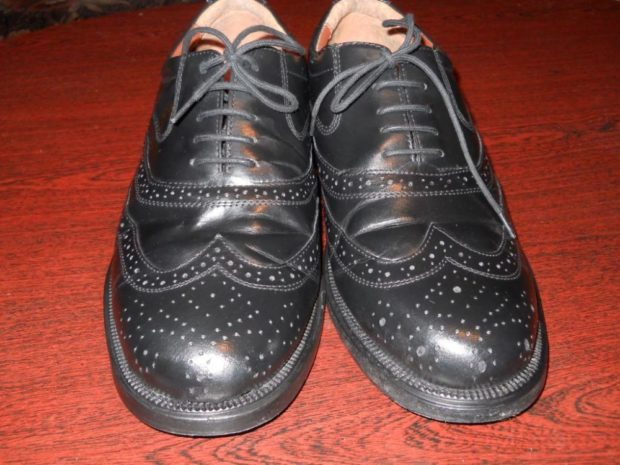 Оксфорды черные на шнурках