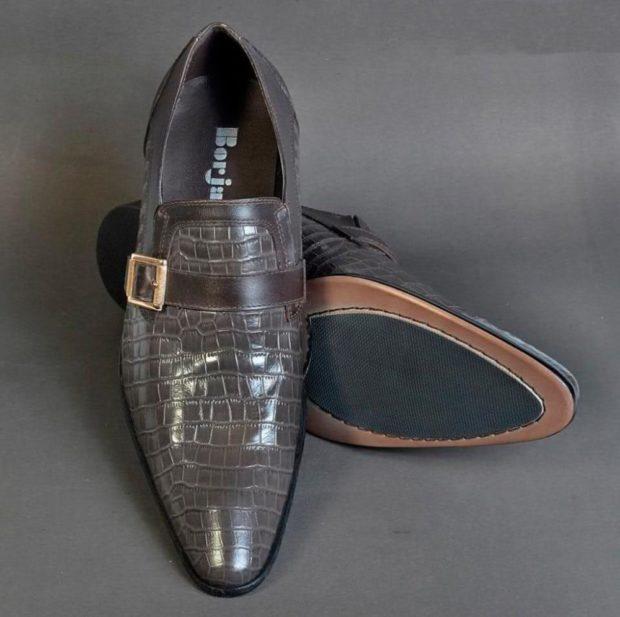 туфли рептилия серые с застежкой
