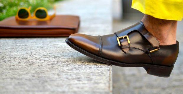 классические туфли с двойной застежкой
