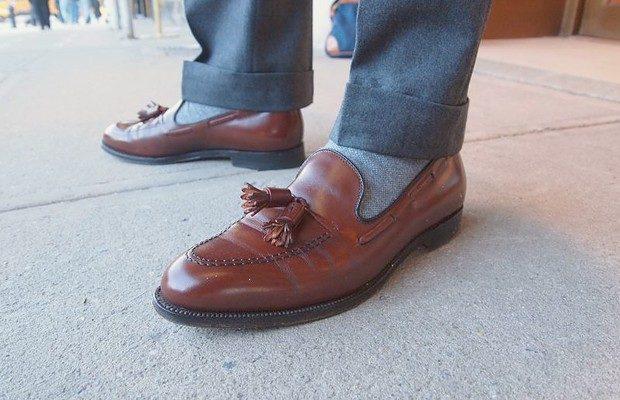 туфли коричневые с декором