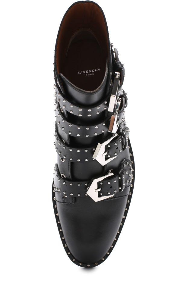 туфли черные с заклепками и застежками