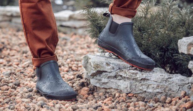 резиновая обувь серая