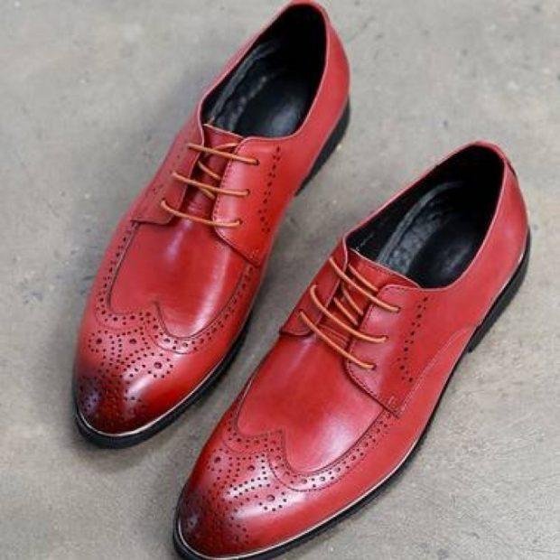 красные оксфорды