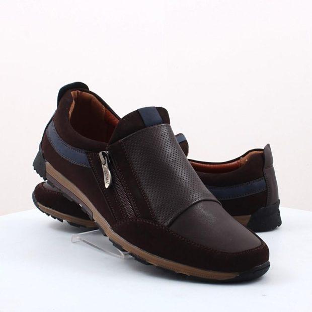 мужские туфли: спортивные коричневые со змейкой