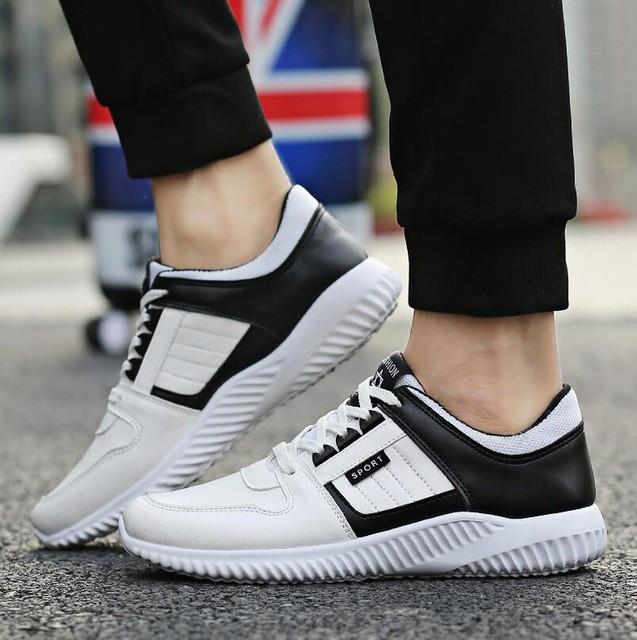 кроссовки черно-белые