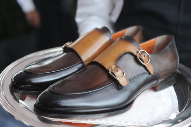 туфли черные с коричневыми застежками
