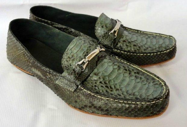 туфли крокодилья кожа зеленые