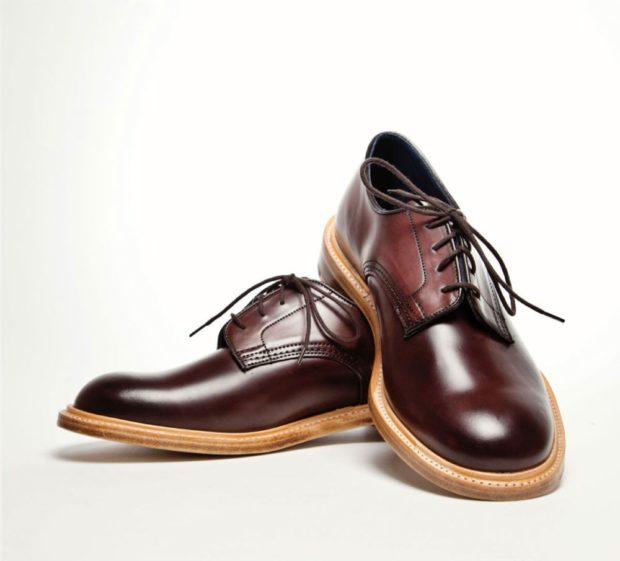 коричневые туфли круглый носок толстая подошва