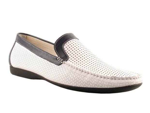 белые туфли в сетку