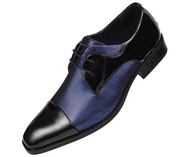 черные туфли с синей вставкой рептилии