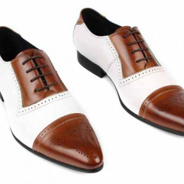 туфли двухцветные коричневые с белым