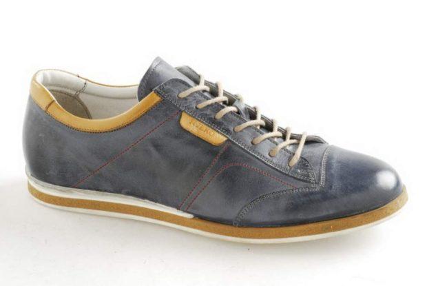 туфли спортивные серые с желтым