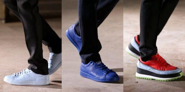 кроссовки серебро синие цветные
