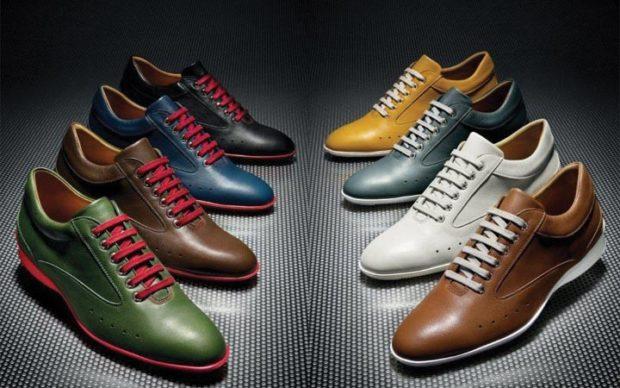 туфли яркие с интересными шнурками
