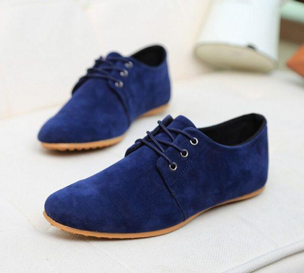 синие туфли замша