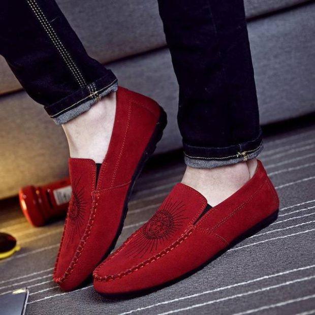 красные туфли замщевые