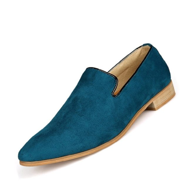 зеленые замшевые туфли