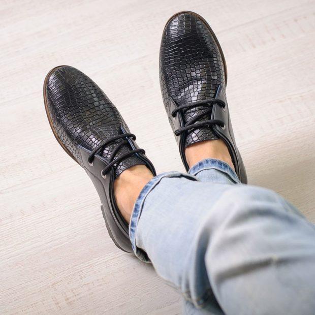 черные туфли рептилия черные