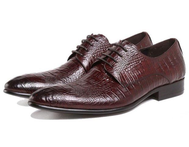красные туфли рептилия