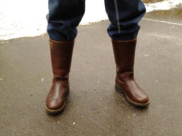 коричневые сапоги кожаные