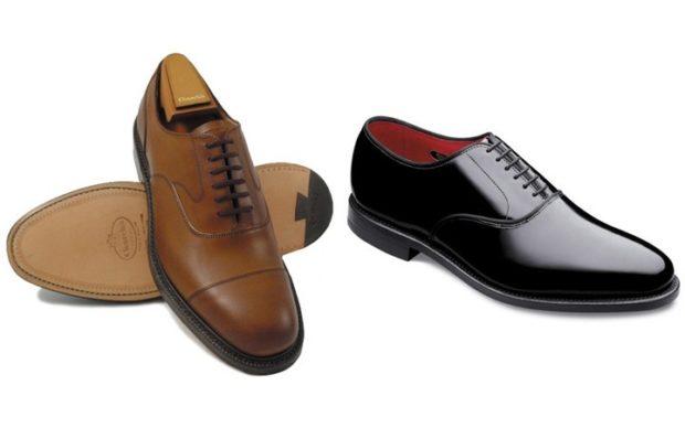 коричневые и черные туфли на шнурках классика