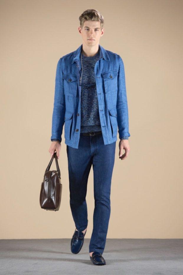 костюм джинсовый темно-синий классика