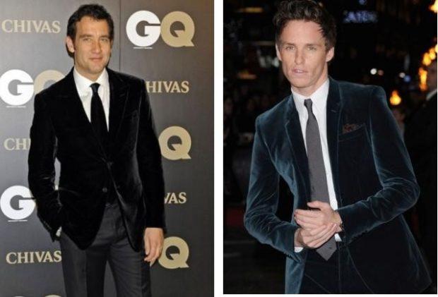 костюм бархатный черный пиджак темно серо-синий