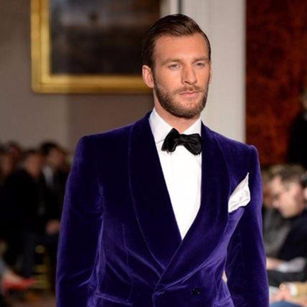 пиджак бархатный фиолетовый