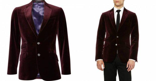 бархатный костюм бордовый пиджак черные брюки