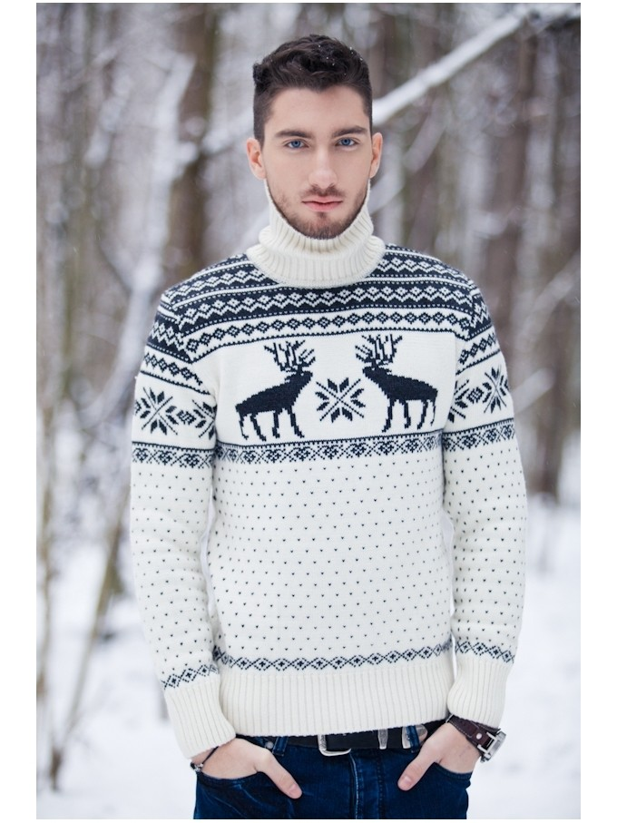белый со снежинками