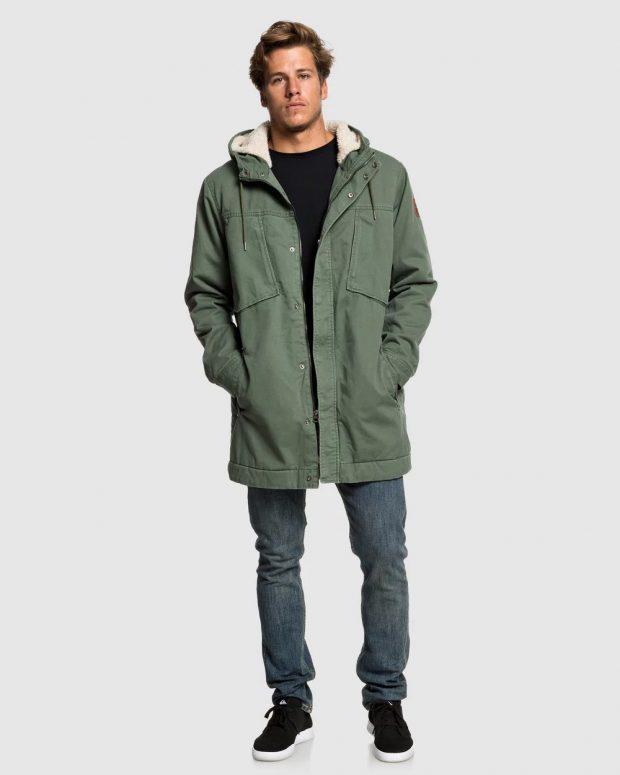 мужская мода осень-зима 2019-2020: зеленая куртка