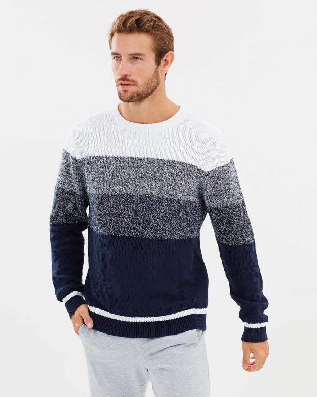 мужская мода осень-зима 2019-2020: кофта в полоску