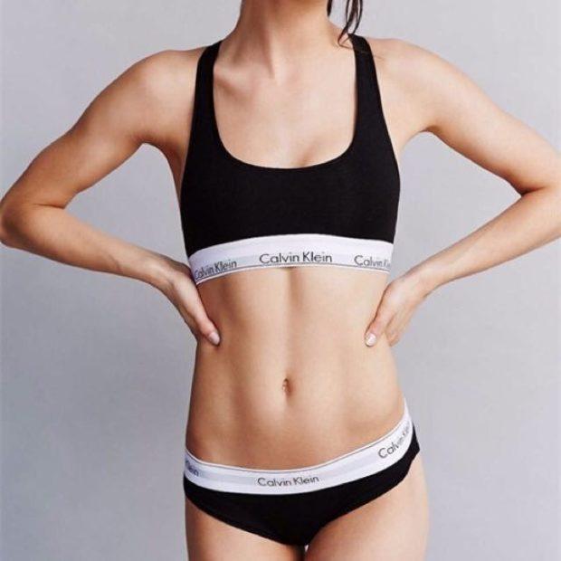 Calvin Klein спортивное белье черное с белой резинкой