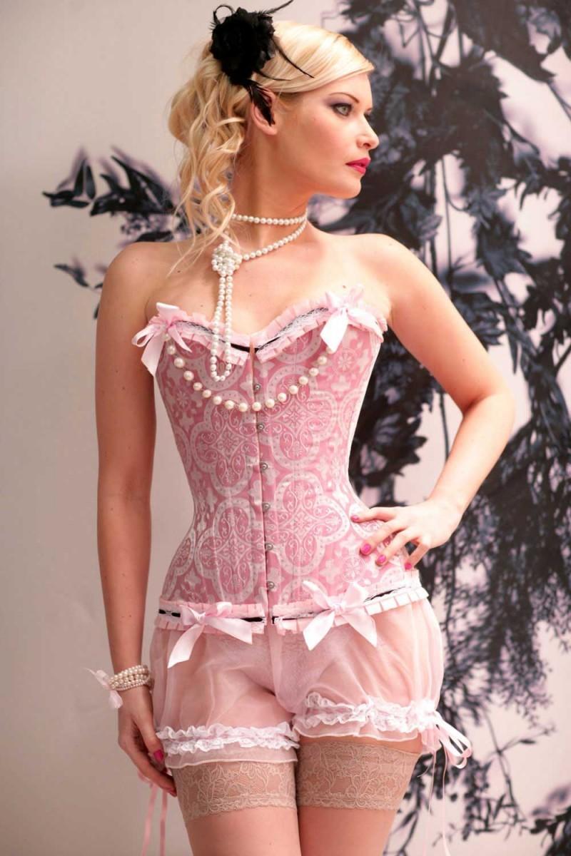 ретро корсет розовый