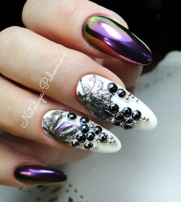 новогодний дизайн ногтей зима 2018-2019 фото новинки